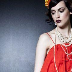fashion stylist party dress pearls