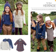 childrens stylist casual winter clothing
