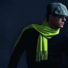 fashion stylist luxury cashmere scarf