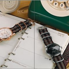 editorial image styling watch filofax retro accurist