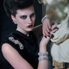 Editorial Stylist Model Quiff Black Dress