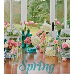 Set Props Spring Flowers French Doors
