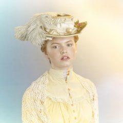 hair makeup hat period costume