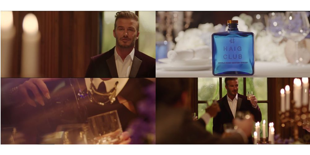 moving image stylist david beckham haig club whisky