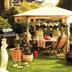 sets props stylist gazebo bbq pots flowers dobbies